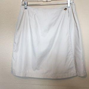 Eddie Bauer wrap skirt in khaki Sz 14